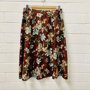 Vintage Homemade Skirt. A Line Flip. Floral Boho.